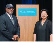 Dr. Bell and Kathy Park