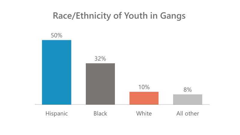 Race Ethnicity of Youth in Gangs graph